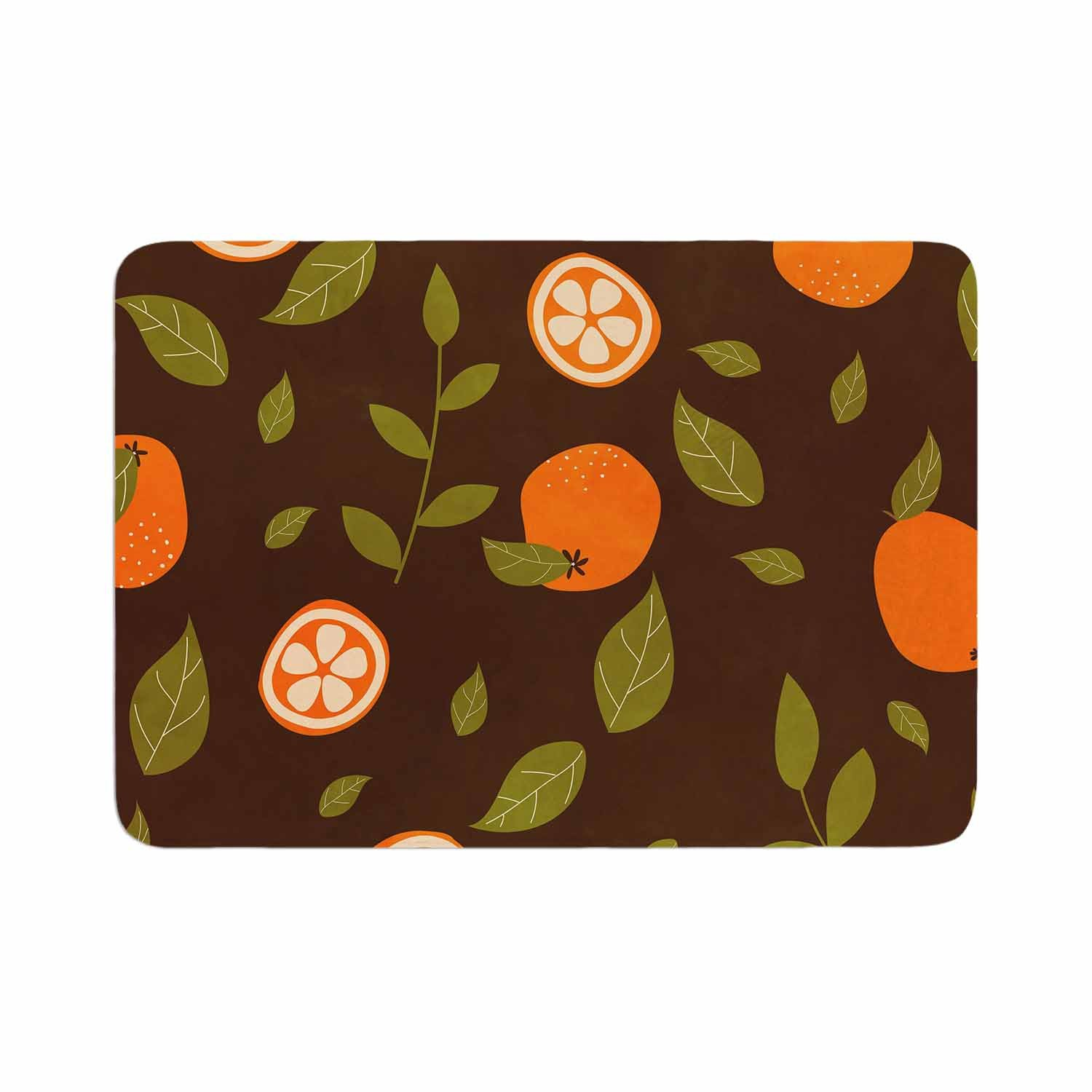 Strawberringo Orange Pattern Abstract Food Memory Foam Bath Mat