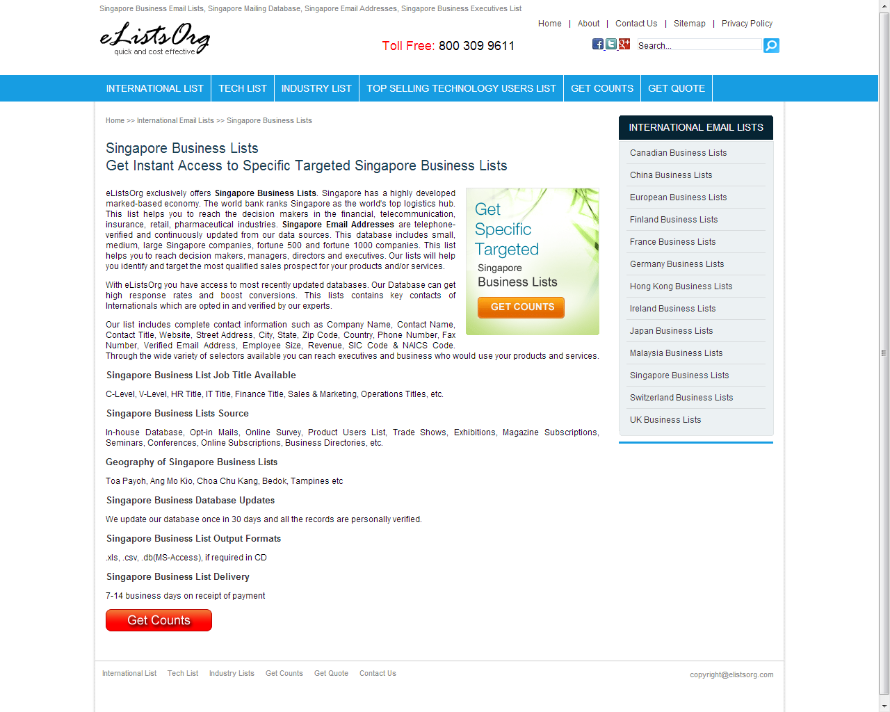 Pin by Ayana Moss on Singapore business mailing list | Business