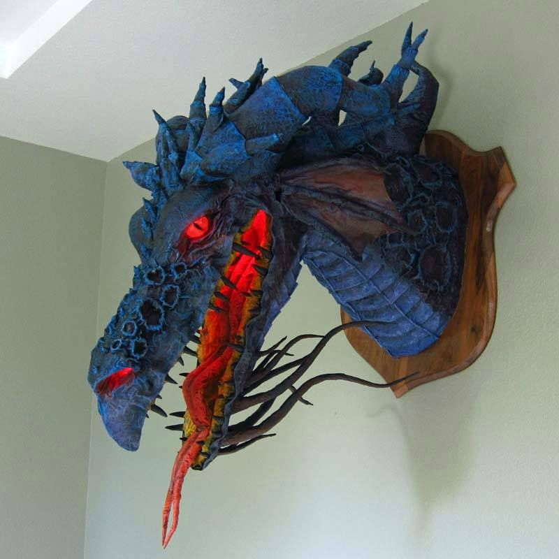 T te de dragon fantasy pinterest dragons bricolage for Cool paper mache