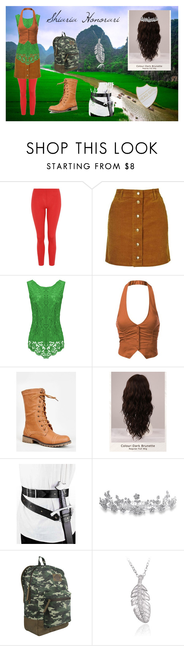 Shiari by solaceshadowhunter on Polyvore featuring J.TOMSON, Topshop, George, Nature Breeze, Dickies, DB Designs, Bling Jewelry and WigYouUp