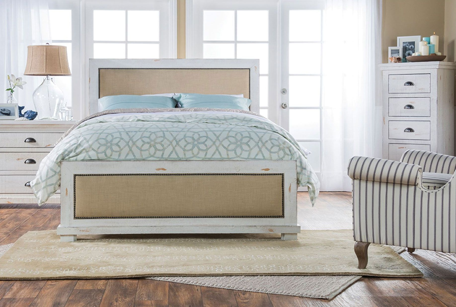 the sinclair bed sets the stage for a multilayered space with its