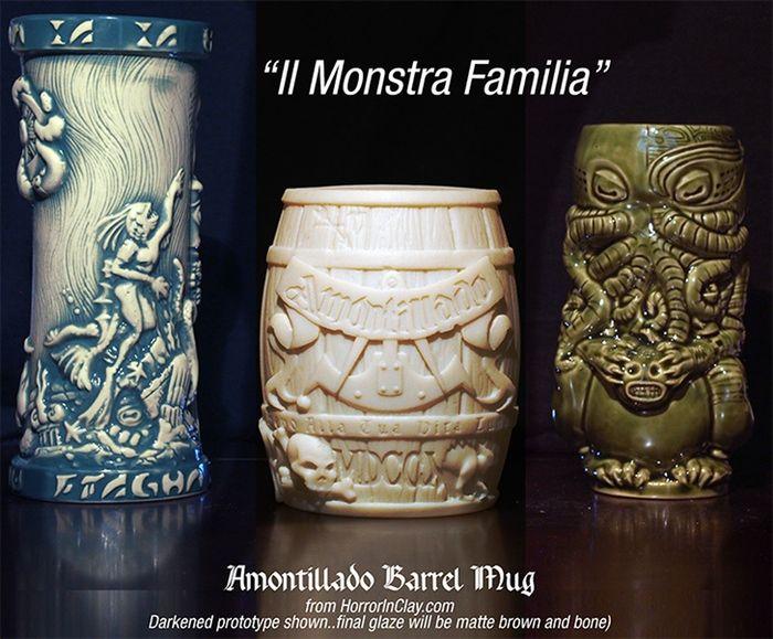 Innsmouth Fogcutter, Amontillado Cask prototype, Cthulhu Tiki Mug