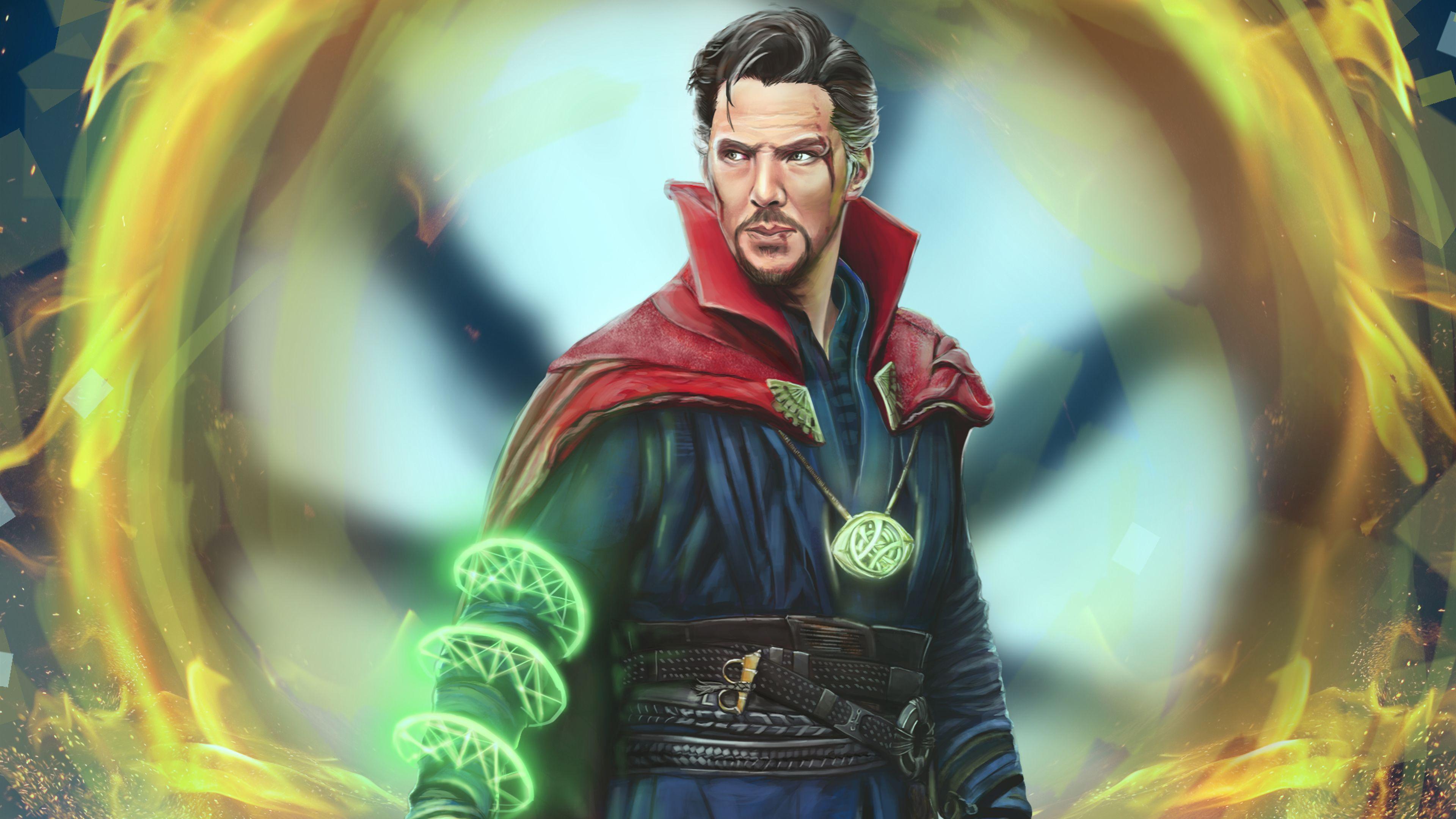 Wallpaper 4k Doctor Strange Marvel Comic Art 5k 4k