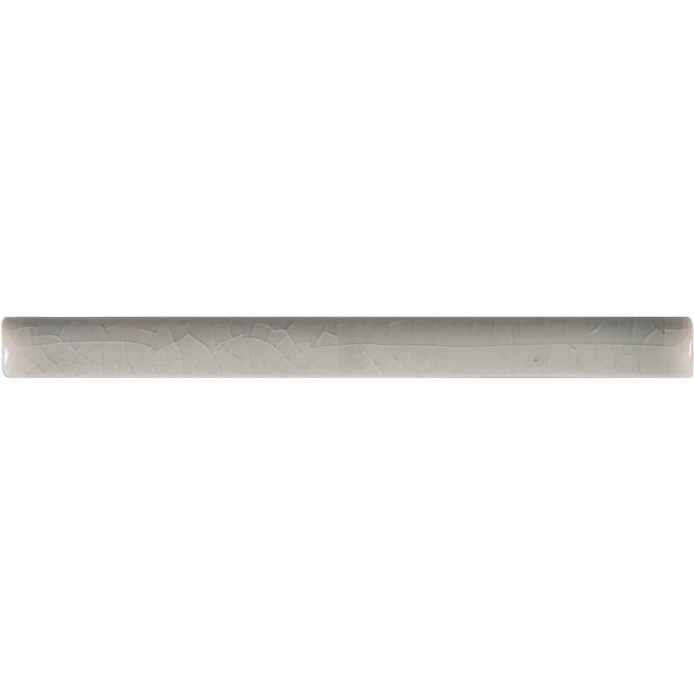 Allen roth glazed wall chocolate ceramic bullnose trim common 1 - Ms International Morning Fog 5 8 In X 6 In Quarter Round Molding