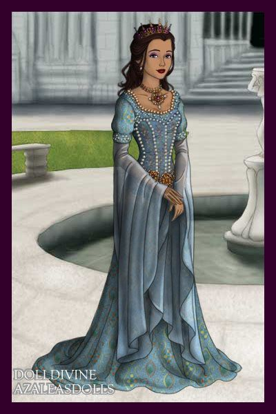 Princess Sancia d'Aragon ~ by chessur1841 ~ created using the LotR Hobbit doll maker   DollDivine.com