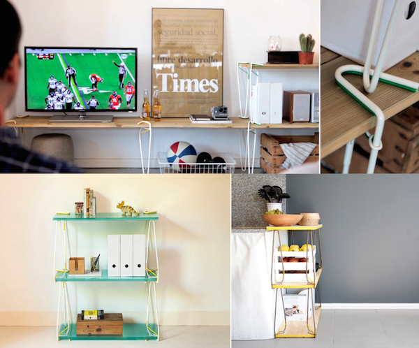Clever Paperclip-Like Tool 'Snaps' Onto Any Surface To Create Fun Furniture - DesignTAXI.com