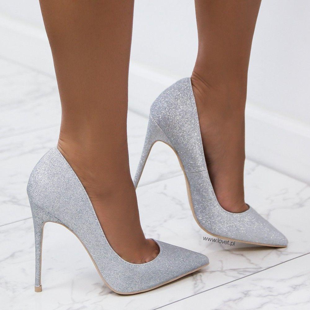 Https Lovet Pl Szpilki 5667 Szpilki Brokatowe Srebrne Joelle Html Heels Stiletto Heels Hot Heels