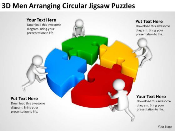 Business People Clip Art Circular Jigsaw Puzzles Powerpoint
