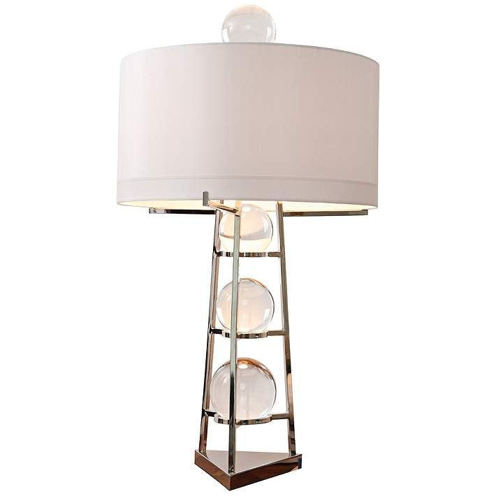 Fortune teller large polished stainless steel table lamp style fortune teller large polished stainless steel table lamp 8g570 lamps plus 1120 aloadofball Image collections