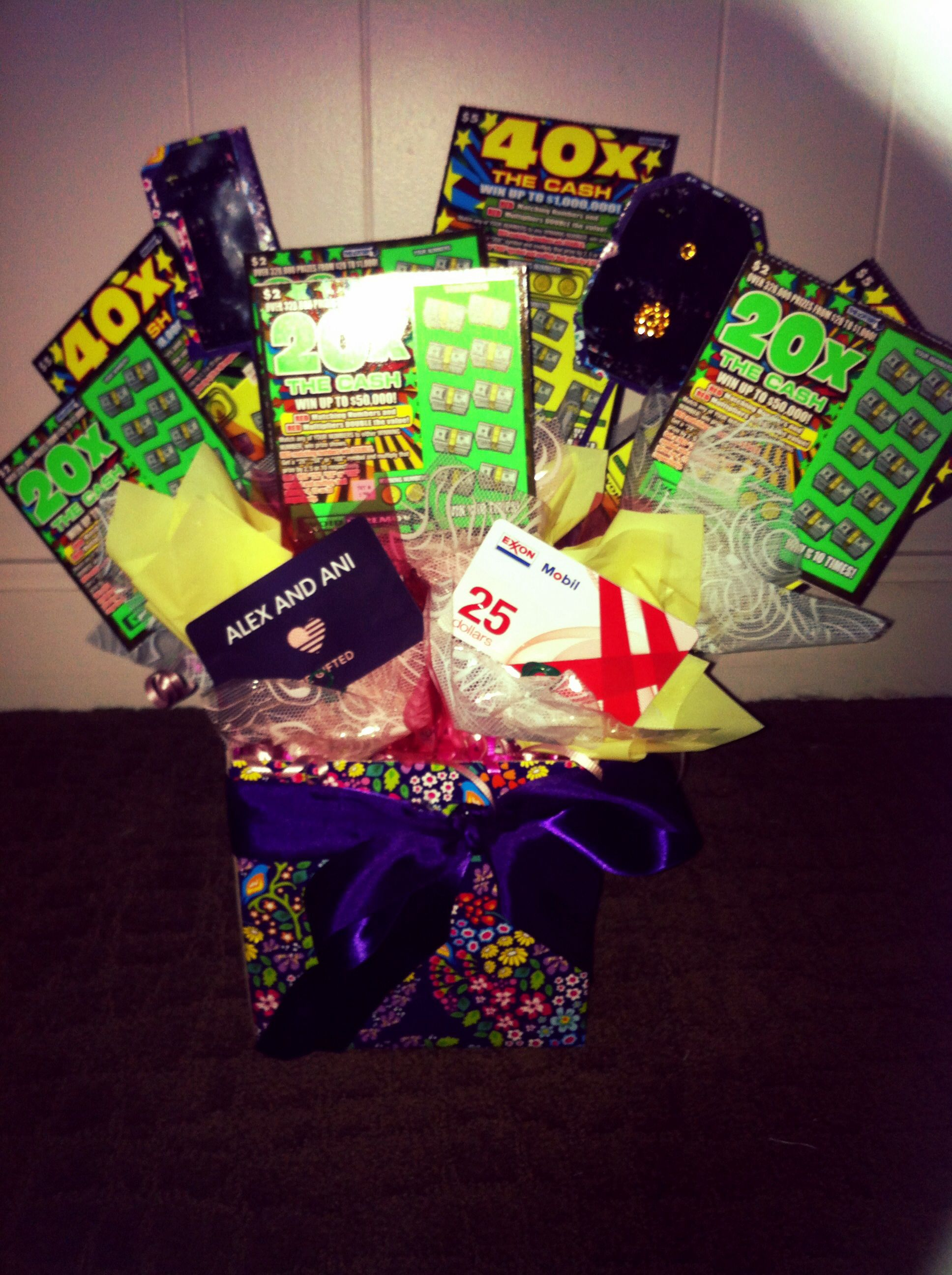 18th Birthday Lottery Gift Card Bouquet Homemade Gifts Gift