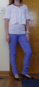 Colored skinny pants - work appropriate!