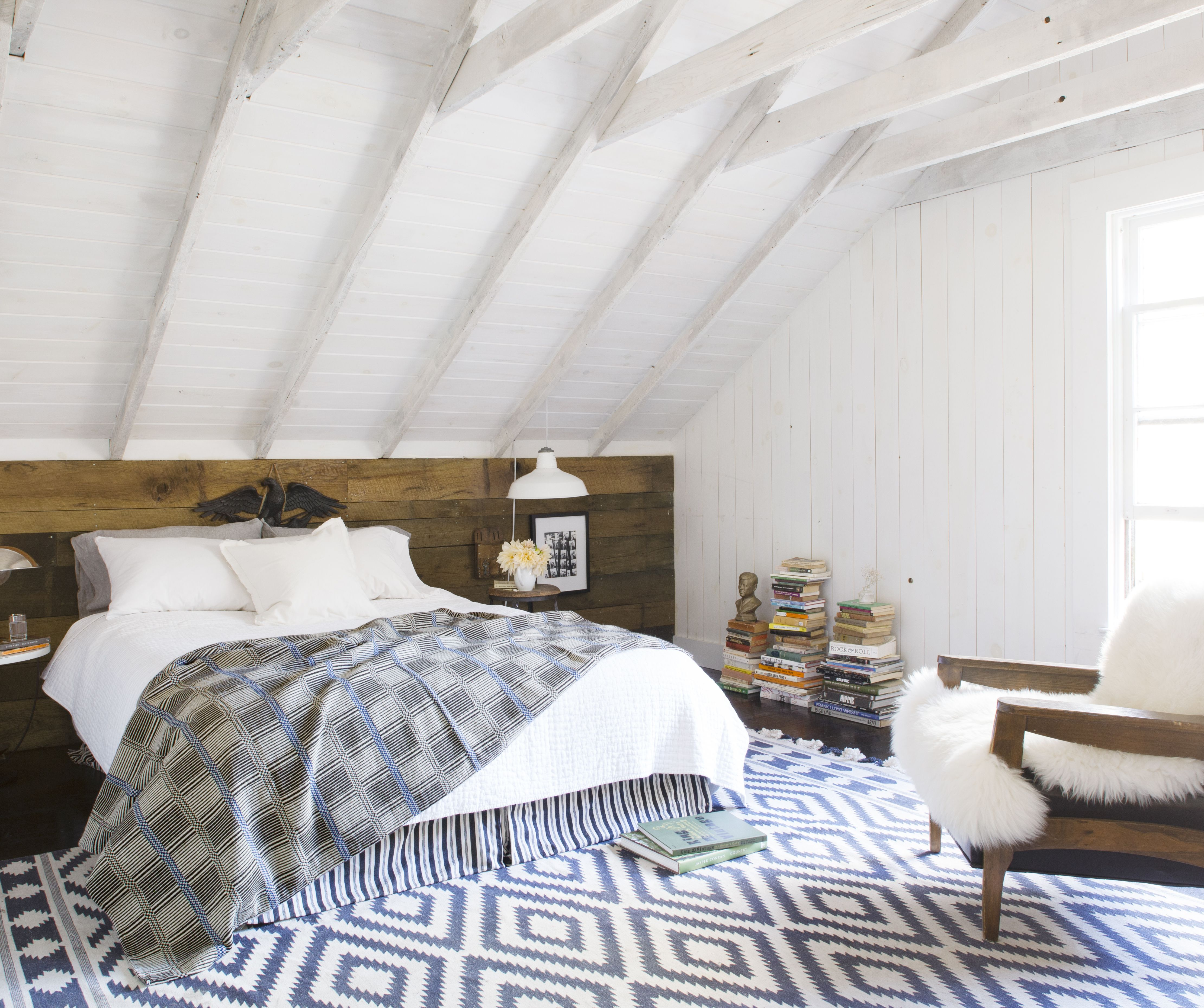 Our Bedroom - white washed ceiling Our home as seen in Country ...