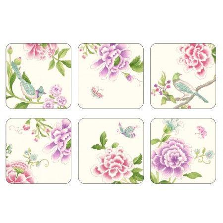 Sanderson for Pimpernel Porcelain Garden Coasters Set of 6