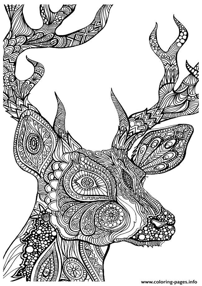 Print adult coloring pages deer coloring pages | color me ...