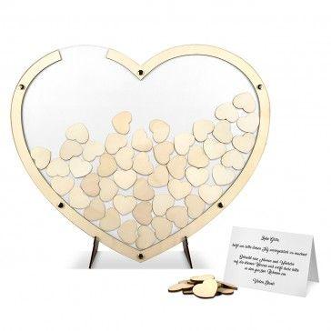 Hochzeit Gästebuch Alternative - Herz aus Holz in Weiß - jetzt online ansehen! #Hochzeit #Gästebuch #Hochzeitsgästebuch #Alternative #Außergewöhnlich #Holz #Holzhochzeit #kreativ #Hochzeitsdeko #dekoration