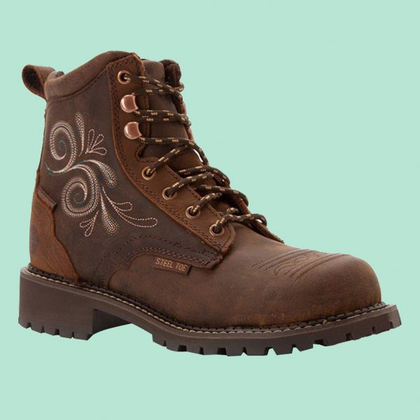 02548081721 Justin Women s Gypsy Waterproof 6″ Lace-Up Work Boot Steel Toe – Wkl985