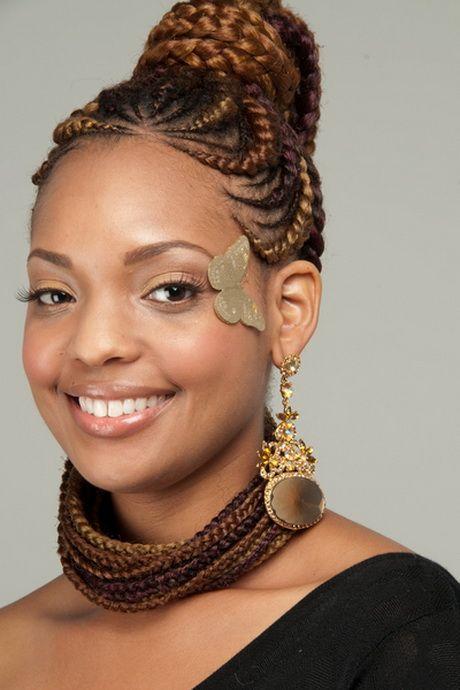 Coiffure Africaine Tresse U2026 | Cheveux Cru00e9pus | Pinterest | Africain Tresse Coiffure Africaine ...