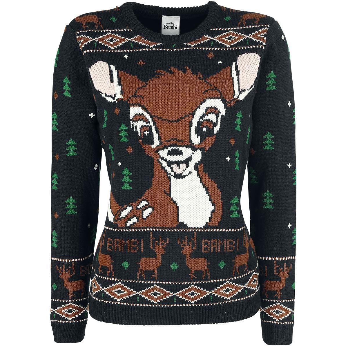 Gebreide Trui Kopen.Bambi Gebreide Trui Vrouw Forest Knit Jumper Multicolour