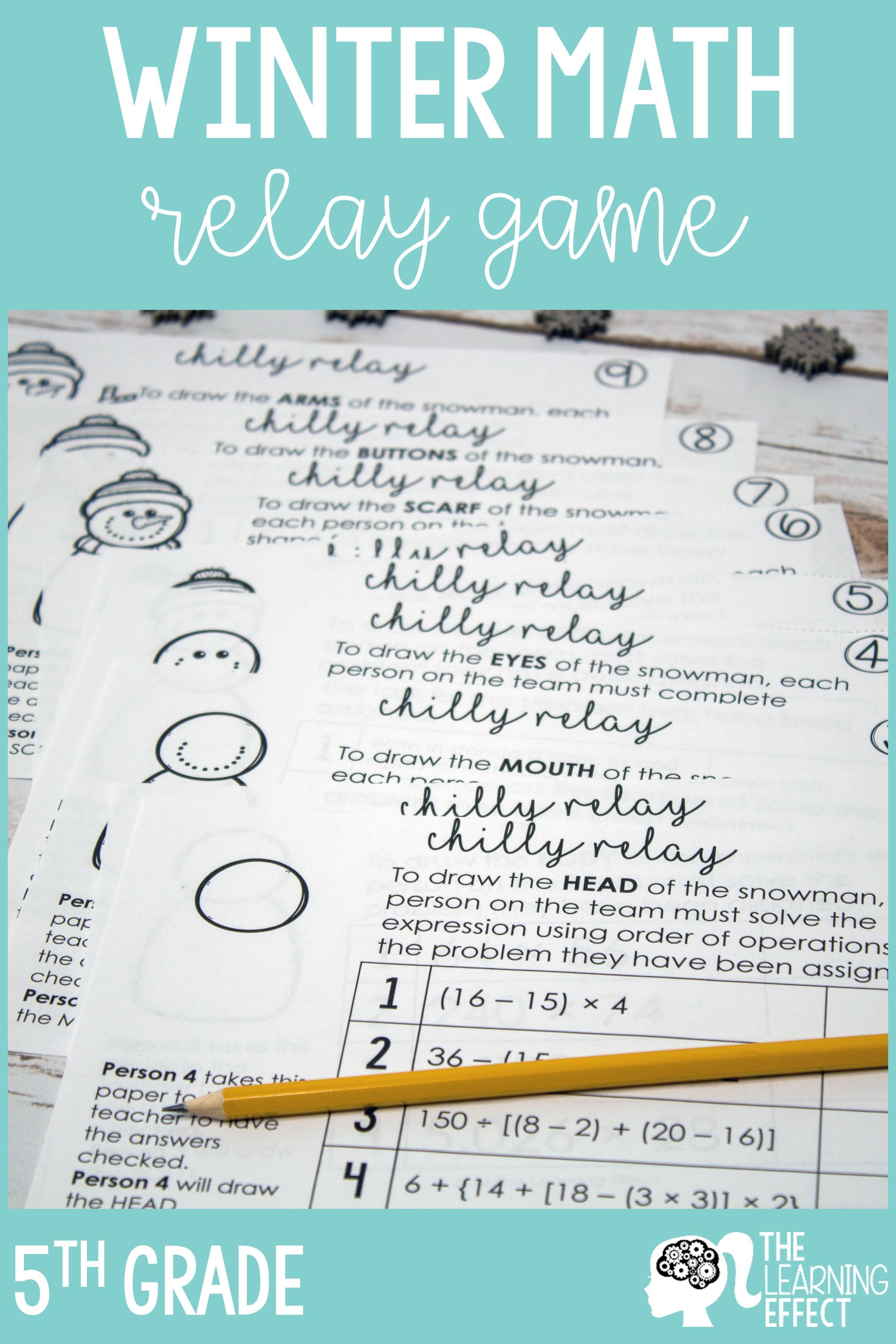 Winter Math Game For 5th Grade