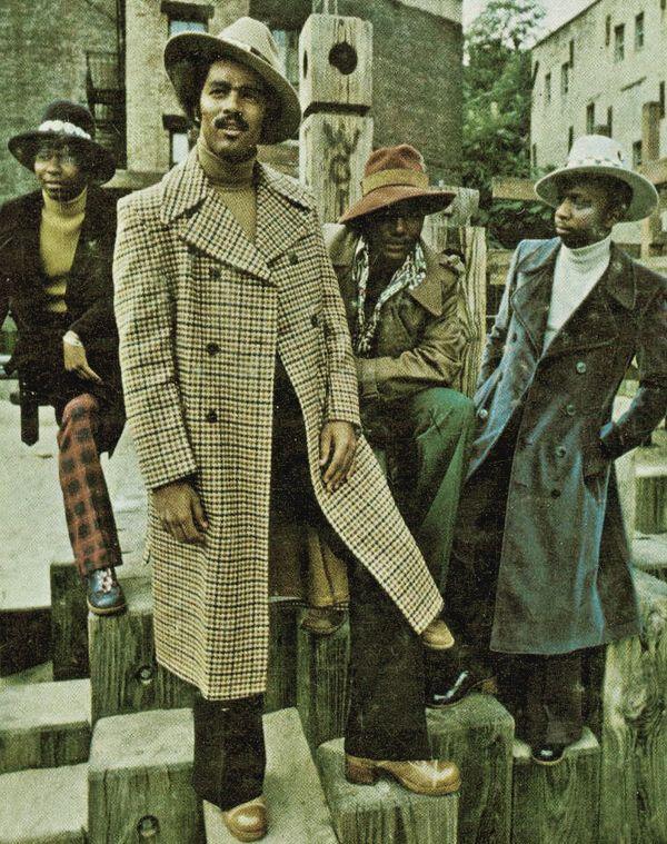 Men At Work Vintage Black Glamour African American
