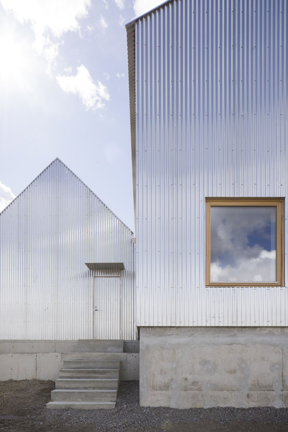 Atelje Small Jpg Architecture Metal Facade Corrugated Roofing