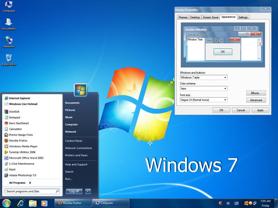 Windows Vista Ultimate Aeroglass (spanish)
