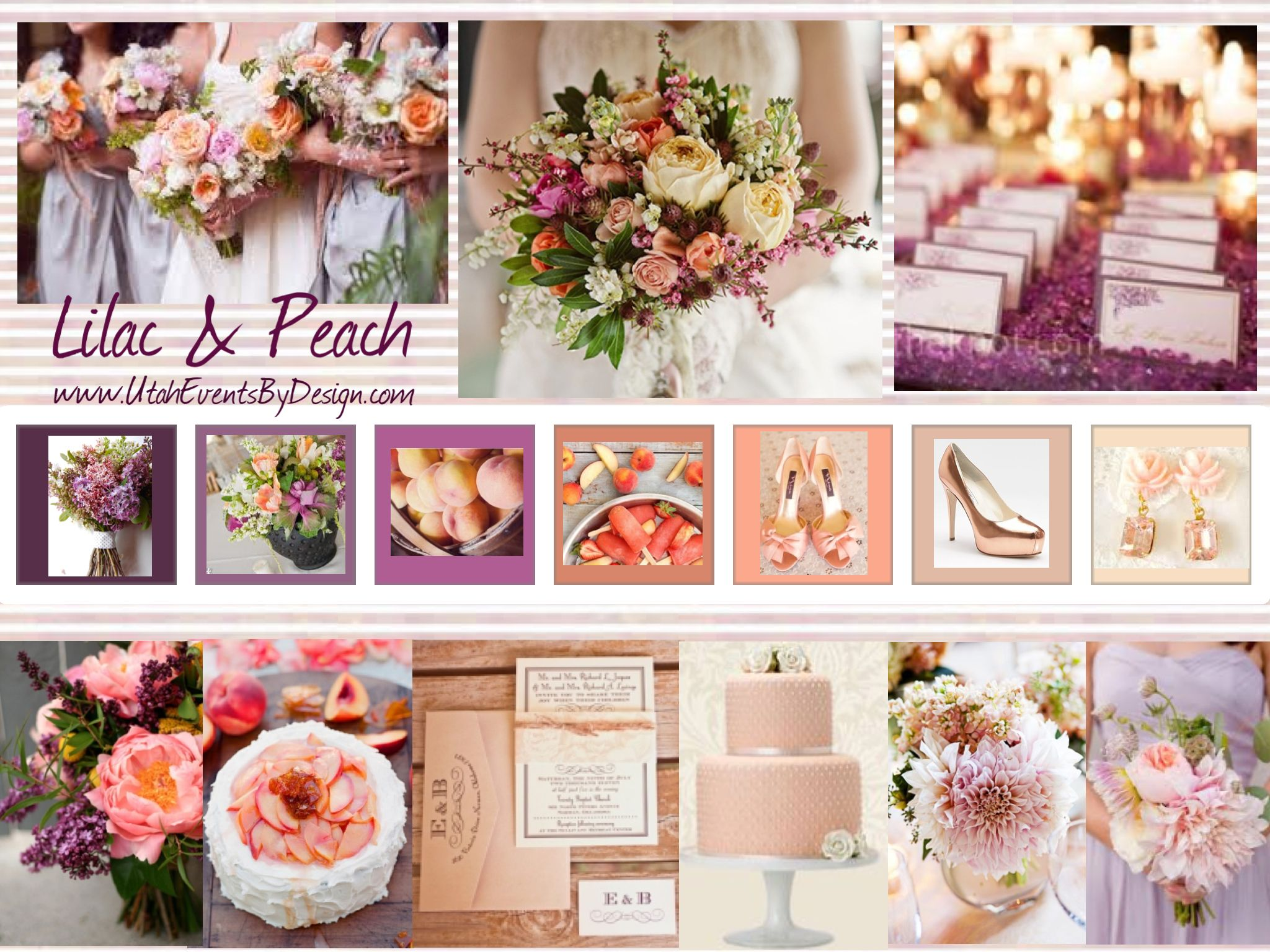Lilac Peach Wedding Inspiration By Utah Events Design