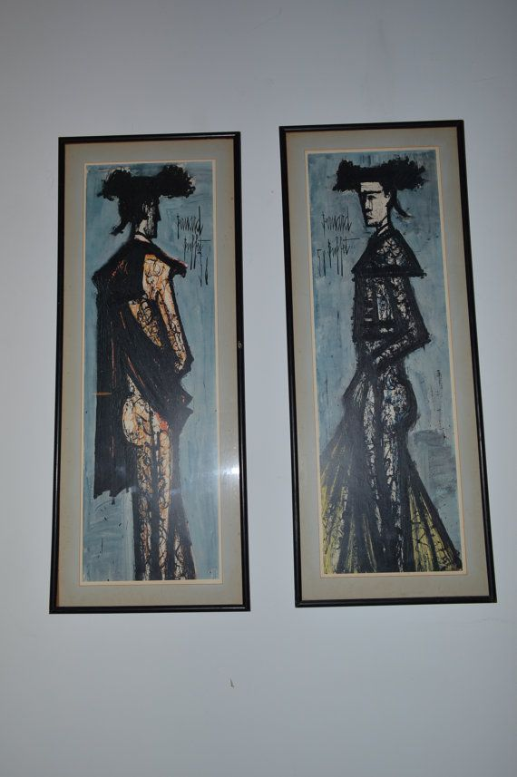 Outstanding Bernard Buffet 1958 Framed Matador Toreador By Interior Design Ideas Apansoteloinfo