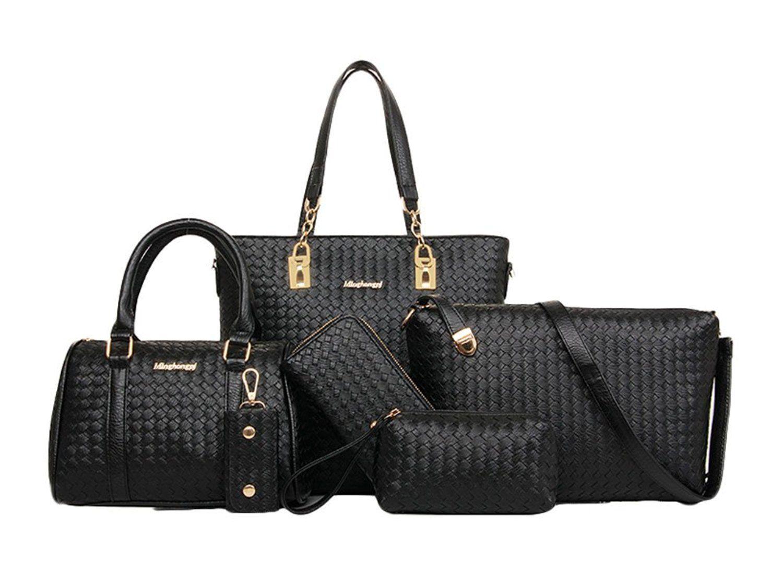 Ioutletu Women S Weaving Shoulder Handbag And Purse 6 Piece Set Bag Silver Awesome Products Selected By Anna Churchill Bags Handbag Shoulder Bag