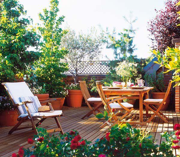 Terrazas y jardines para disfrutar p p jardines plantas for Diseno de muebles de jardin al aire libre