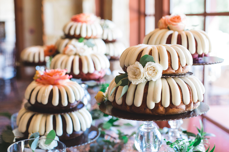 Maegan phillip nothing bundt cakes wedding cake