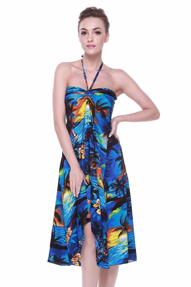 e239c85974c2 Hawaii Hangover Exclusive Hawaiian Butterfly Dress Luau Cruise in Sunset  Blue | Clothing, Shoes & Accessories, Women's Clothing, Dresses | eBay!