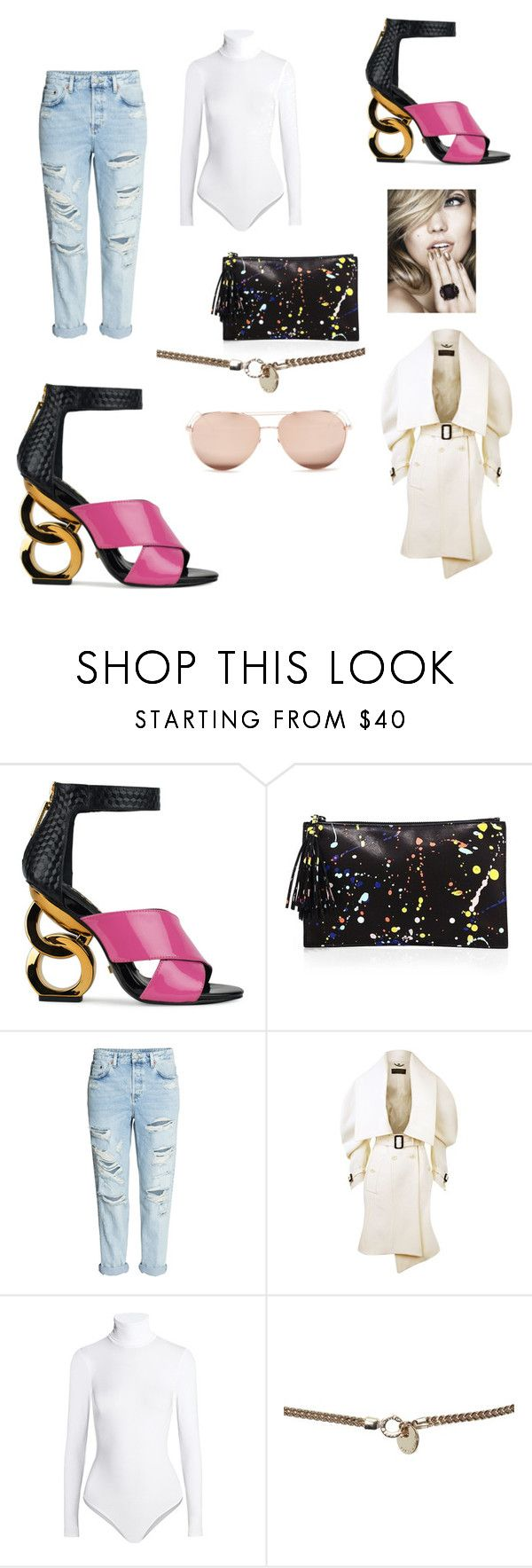 """on the go"" by ericap61720 ❤ liked on Polyvore featuring Kat Maconie, Loeffler Randall, Burberry, Wolford, Karen Millen and Linda Farrow"