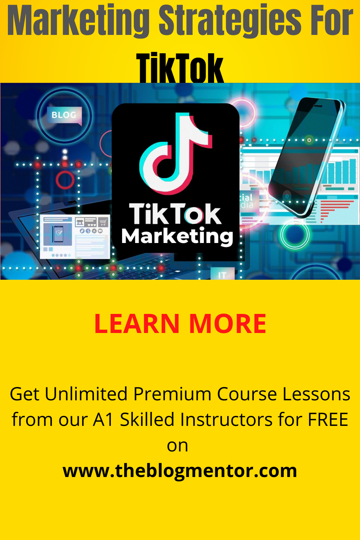 Marketing Strategies For Tiktok Tiktok Marketing Mastery Course Part6 In 2021 Marketing Techniques Marketing Strategy Marketing