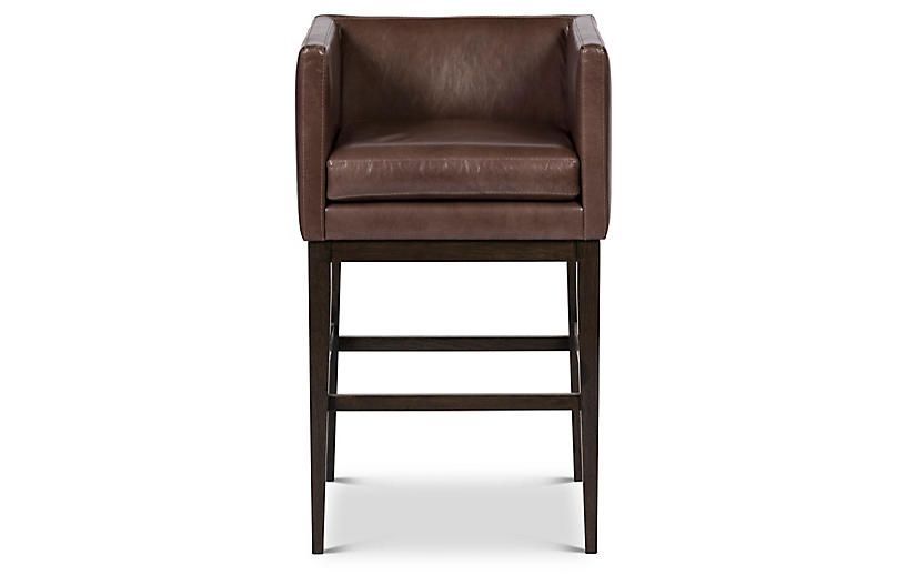 Finch Counter Stool Storm Leather Elite Company