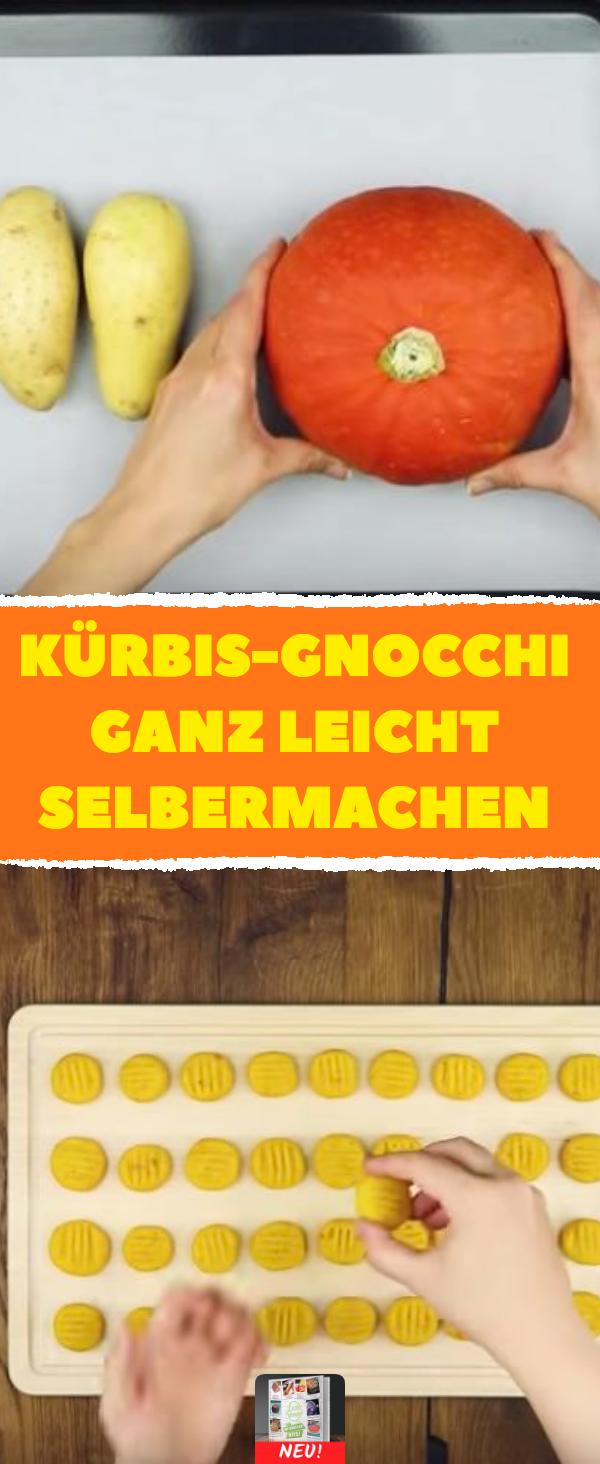 Kürbis-Gnocchi ganz leicht selbermachen #rezept #rezepte #herbst #kürbis #gemüse #rezepteherbst