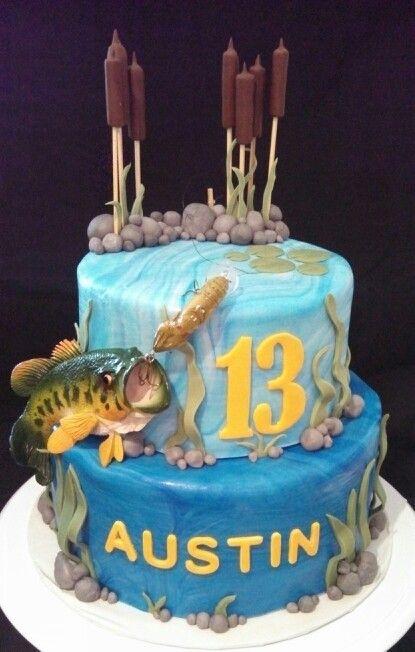 Bass Fishing Cake Funny 50th Birthday Cakes Bass Fish Cake Fish Cake