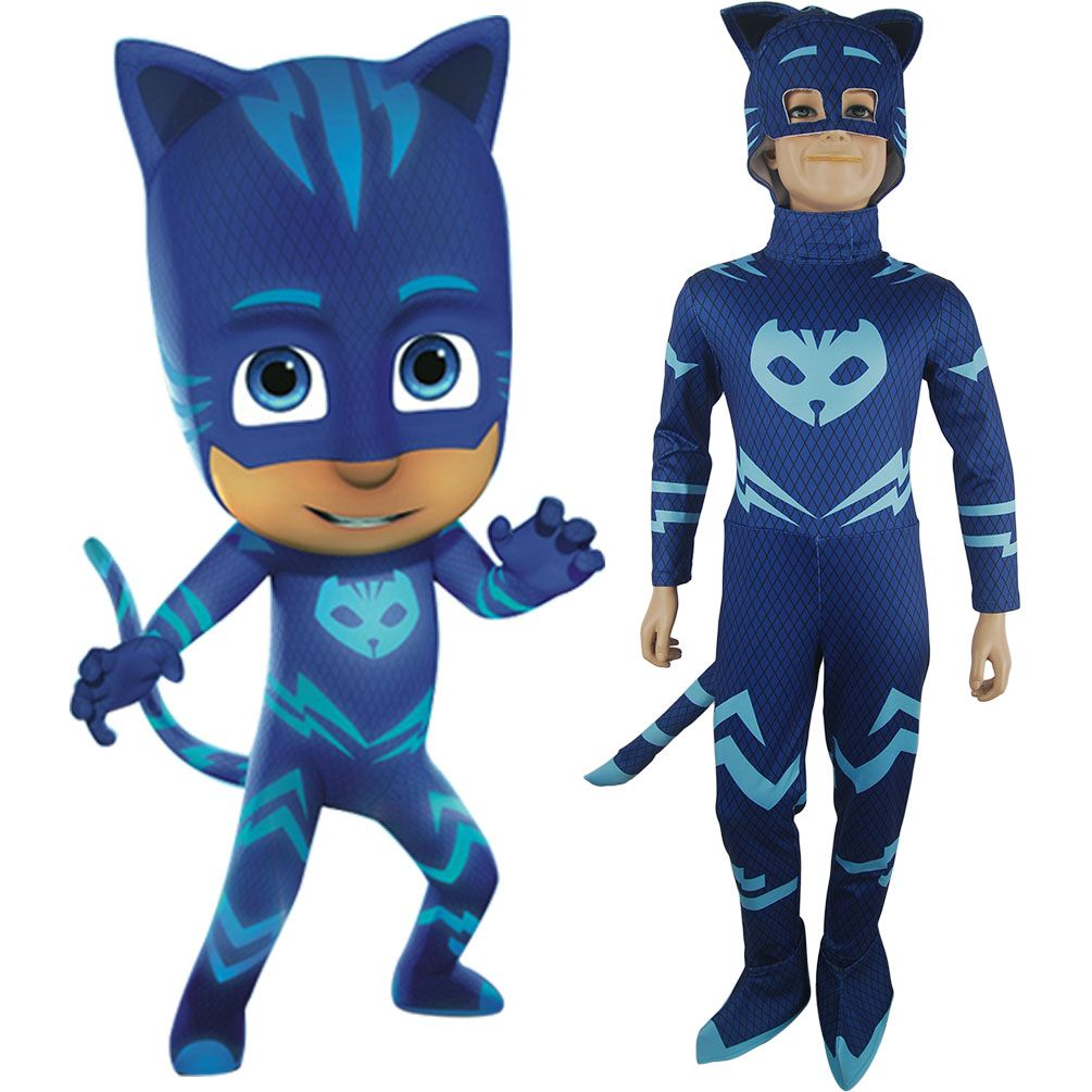 PJ Masks Superhero Kids Child Catboy Costume 7-8 Years Boys Fancy Dress Mask
