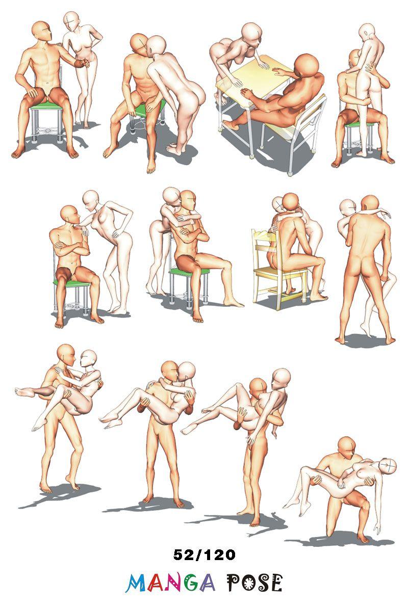 Tutorial Drawing Manga pose. Big posebook for manga anime character ...