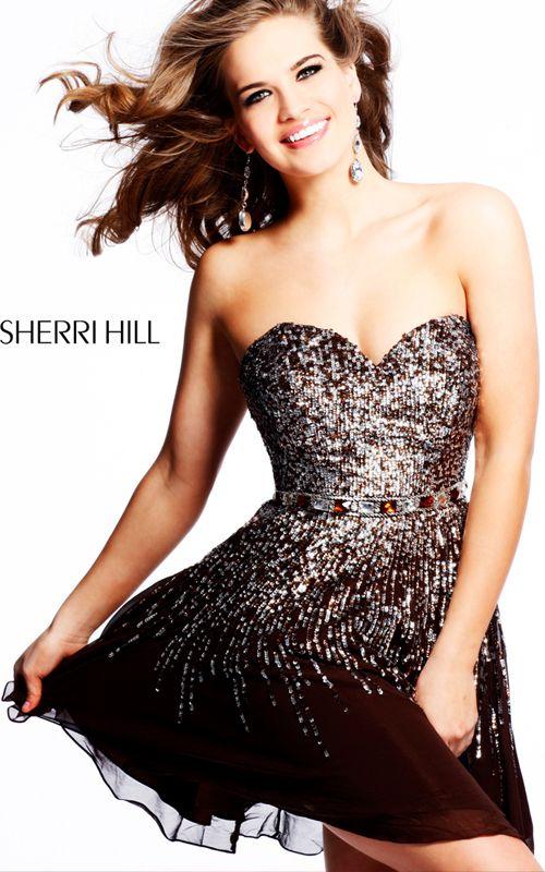 Black Sweetheart Sherri Hill 8413 Prom Dress
