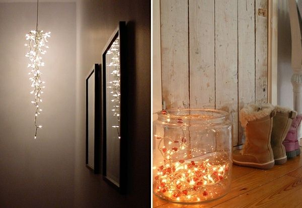 lichterkette im glas lichter. Black Bedroom Furniture Sets. Home Design Ideas
