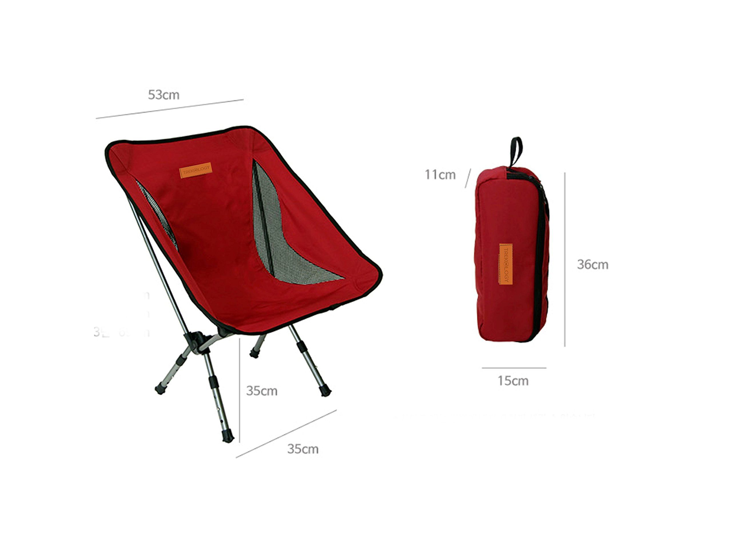 Backpacking chair ultralight - Trekology Portable Camping Chairs With Adjustable Height Compact Ultralight Folding Backpacking Chair With A Carry