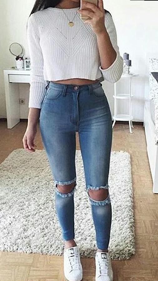 361d43a125fe Resultado de imagen de outfit de moda 2018 adolescentes | Outfits ...
