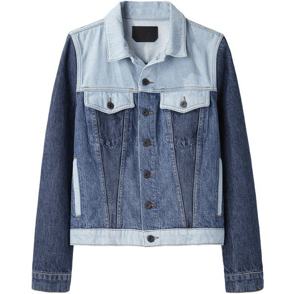 Proenza Schouler Colorblocked Jean Jacket ($495) ❤ liked on Polyvore