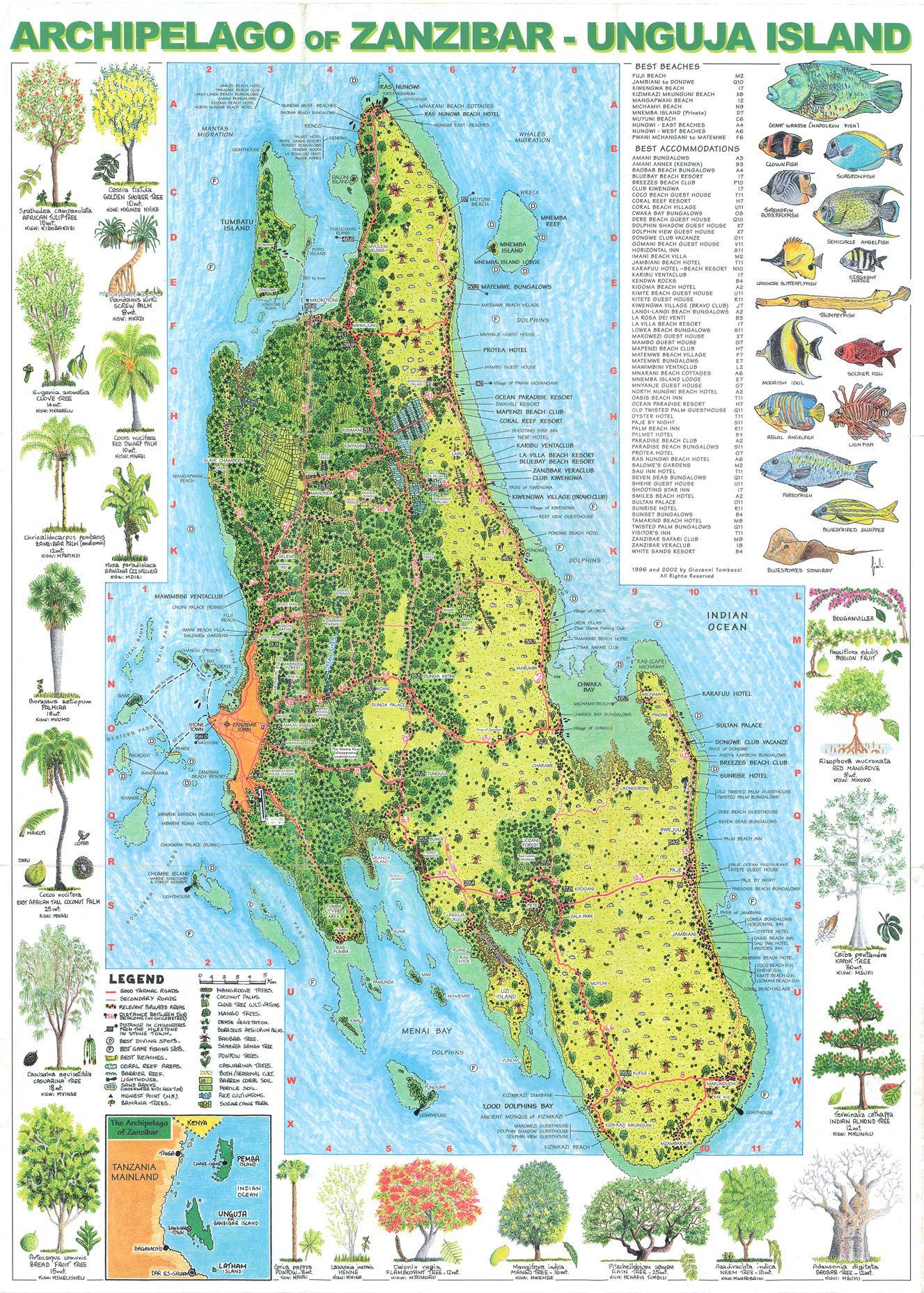 Zanzibar Belafrique Your Personal Travel Planner Www Belafrique Com Zanzibar Map British Indian Ocean Territory