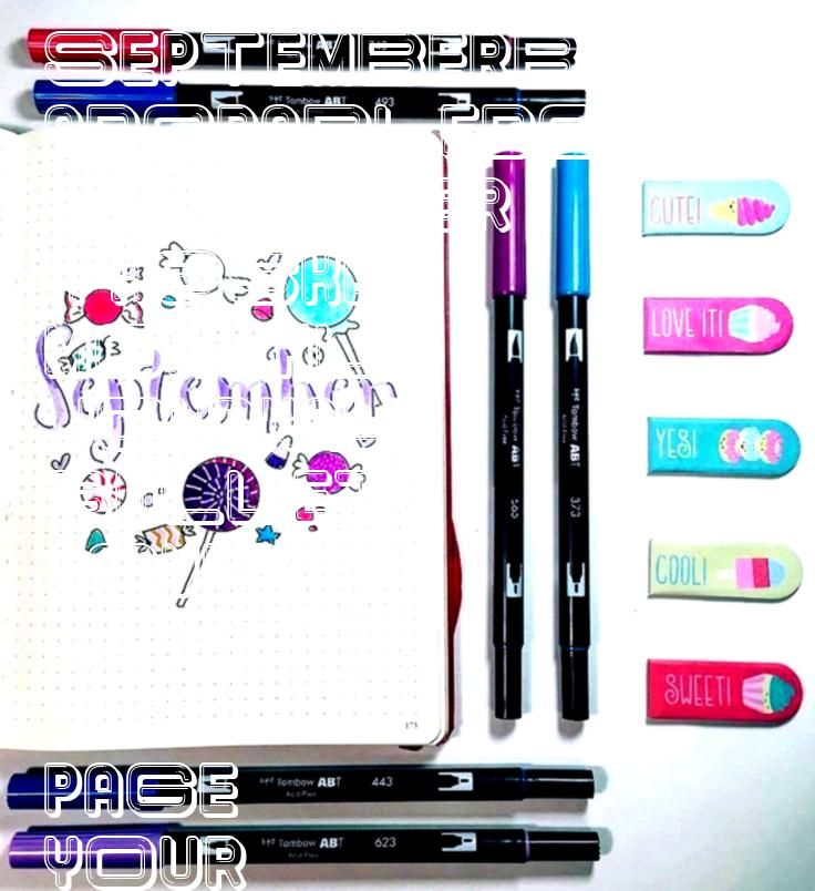 sweet September monthly cover page for your bullet journal Cute fun and fil A sweet September monthly cover page for your bullet journal Cute fun and filA sweet September...