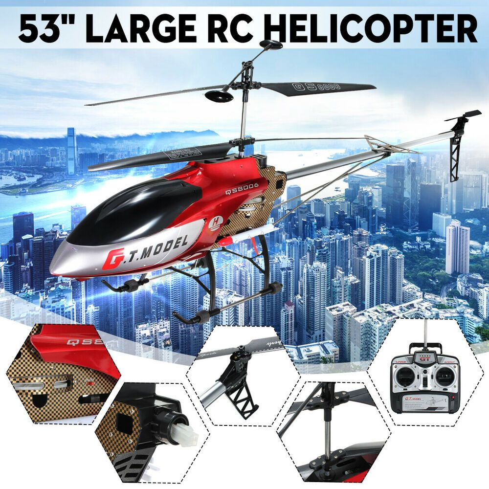 This Is New Version Of Qs8006 53 Quot Rc Helicopter With Built In Gyro The Inner Gyro With Function Of Dual Rate And Head Loc Rc Helicopter Helicopter Remote