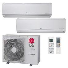 Lg 33 000 Btu 22 Seer Ductless Dual Zone Heat Pump System 9 24