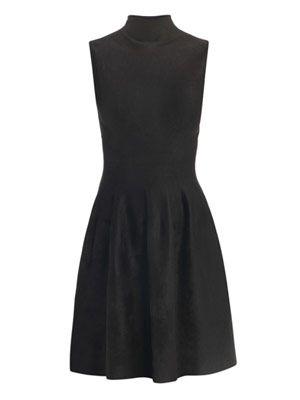 Velvet high-neck dress