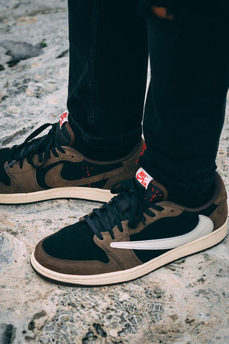 On-Feet With Travis Scott's Air Jordan 1 Low Sneaker in 2020 ...